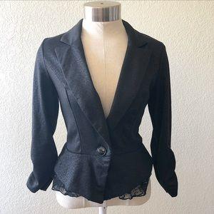 Black blazer with lace